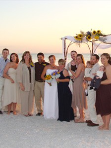 group beach wedding
