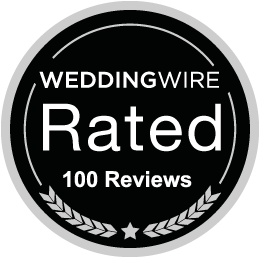 Weddingwire 100 Reviews Badge